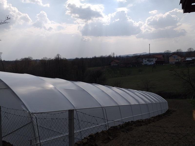 Isporuka i montaža plastenika 29.03.2020. Srebrenik